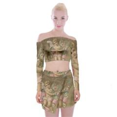 Cupid   Vintage Off Shoulder Top With Mini Skirt Set