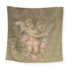 Cupid   Vintage Square Tapestry (large)