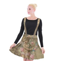Cupid   Vintage Suspender Skater Skirt