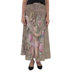 Cupid   Vintage Flared Maxi Skirt