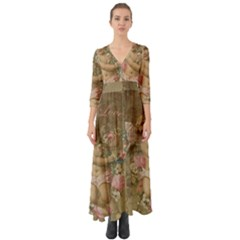 Cupid   Vintage Button Up Boho Maxi Dress
