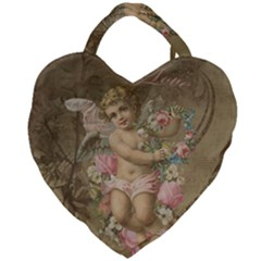 Cupid   Vintage Giant Heart Shaped Tote