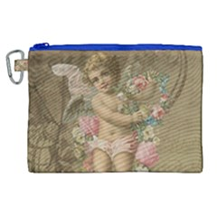 Cupid   Vintage Canvas Cosmetic Bag (xl)