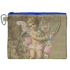 Cupid   Vintage Canvas Cosmetic Bag (xxl)