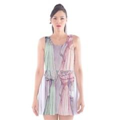 Vintage 1331476 1920 Scoop Neck Skater Dress