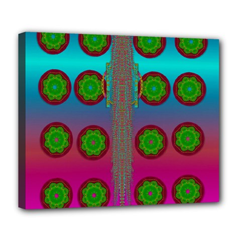 Meditative Abstract Temple Of Love And Meditation Deluxe Canvas 24  X 20