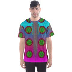 Meditative Abstract Temple Of Love And Meditation Men s Sports Mesh Tee