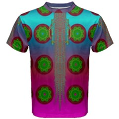 Meditative Abstract Temple Of Love And Meditation Men s Cotton Tee