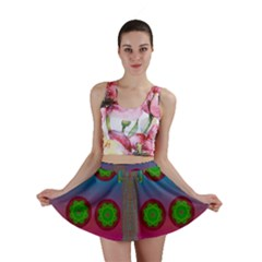 Meditative Abstract Temple Of Love And Meditation Mini Skirt