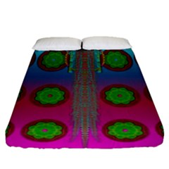 Meditative Abstract Temple Of Love And Meditation Fitted Sheet (queen Size)