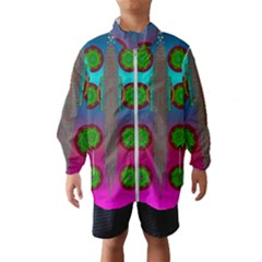 Meditative Abstract Temple Of Love And Meditation Wind Breaker (kids)