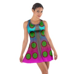 Meditative Abstract Temple Of Love And Meditation Cotton Racerback Dress