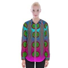 Meditative Abstract Temple Of Love And Meditation Womens Long Sleeve Shirt