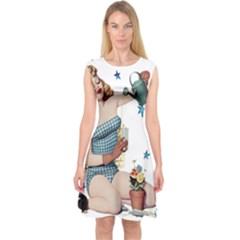 Retro 1265769 1920 Capsleeve Midi Dress