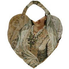 Vintage 1229015 1920 Giant Heart Shaped Tote