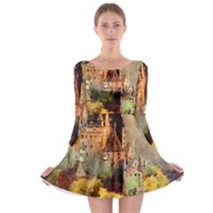 Painting 1241680 1920 Long Sleeve Skater Dress