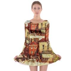 Painting 1241683 1920 Long Sleeve Skater Dress