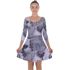 Vintage 1181664 1280 Quarter Sleeve Skater Dress