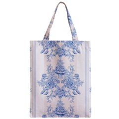 Beautiful,pale Blue,floral,shabby Chic,pattern Zipper Classic Tote Bag