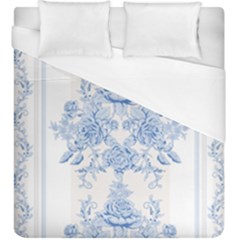Beautiful,pale Blue,floral,shabby Chic,pattern Duvet Cover (king Size)