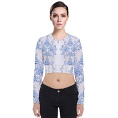Beautiful,pale Blue,floral,shabby Chic,pattern Bomber Jacket