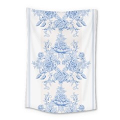 Beautiful,pale Blue,floral,shabby Chic,pattern Small Tapestry