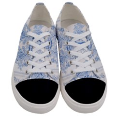 Beautiful,pale Blue,floral,shabby Chic,pattern Women s Low Top Canvas Sneakers