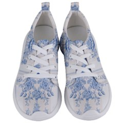 Beautiful,pale Blue,floral,shabby Chic,pattern Women s Lightweight Sports Shoes