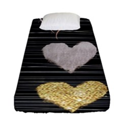 Modern Heart Pattern Fitted Sheet (single Size)