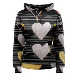 Modern Heart Pattern Women s Pullover Hoodie