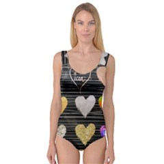 Modern Heart Pattern Princess Tank Leotard