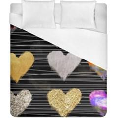 Modern Heart Pattern Duvet Cover (california King Size)