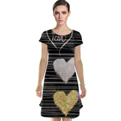 Modern Heart Pattern Cap Sleeve Nightdress