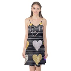 Modern Heart Pattern Camis Nightgown