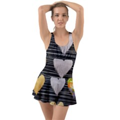Modern Heart Pattern Swimsuit