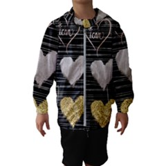 Modern Heart Pattern Hooded Wind Breaker (kids)