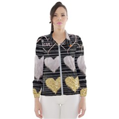 Modern Heart Pattern Wind Breaker (women)