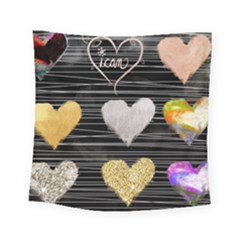 Modern Heart Pattern Square Tapestry (small)