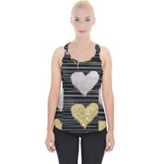 Modern Heart Pattern Piece Up Tank Top