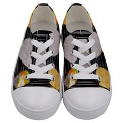 Modern Heart Pattern Kids  Low Top Canvas Sneakers