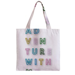 Adventure With Me Zipper Grocery Tote Bag