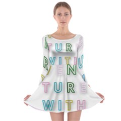 Adventure With Me Long Sleeve Skater Dress
