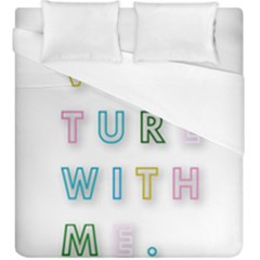 Adventure With Me Duvet Cover (king Size)