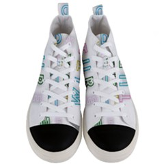 Adventure With Me Men s Mid Top Canvas Sneakers