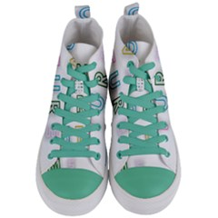 Adventure With Me Women s Mid Top Canvas Sneakers
