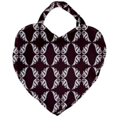 Crimson Print Giant Heart Shaped Tote