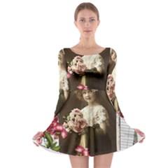 Vintage 1168517 1920 Long Sleeve Skater Dress