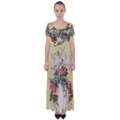 Easter 1225798 1280 High Waist Short Sleeve Maxi Dress