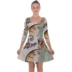 Easter 1225805 1280 Quarter Sleeve Skater Dress