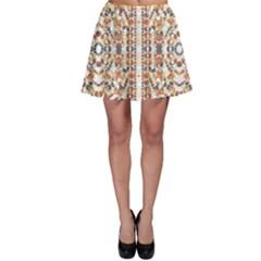 Multicolored Geometric Pattern  Skater Skirt